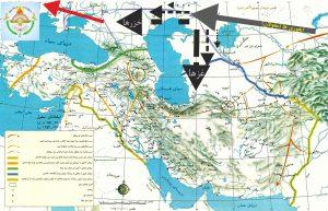 نقشه C: خط سیر ایغوری ها (مغولان- ترکان غز و خزر) در طی 4000 سال اخیر