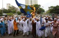 به آتش کشیده شدن پرچم سوئد توسط مسلمانان